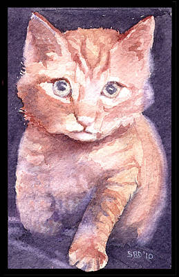Callie's Cats Art Print by Sarah Buell  Dowling