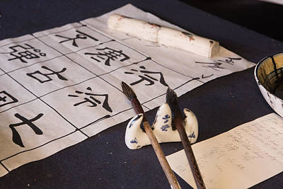 Photograph - Calligraphers Desk by Gordon  Grimwade