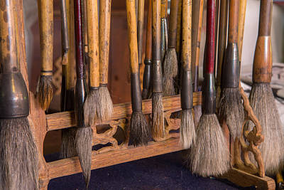 Photograph - Calligraphy Brushes by Gordon  Grimwade