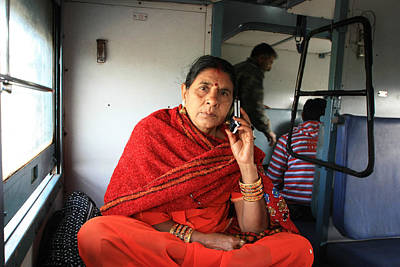 Keeping In Touch Photograph - Calling From The Train by Amanda Stadther