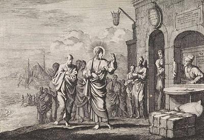 Calling Of Matthew, Jan Luyken, Pieter Mortier Art Print by Jan Luyken And Pieter Mortier