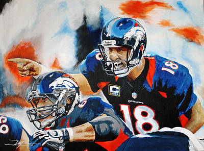 Peyton Manning Drawing - Peyton Manning by Don Medina