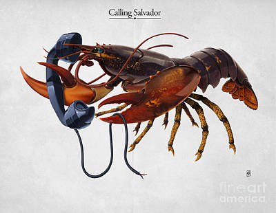 Sea Creatures Mixed Media - Calling Salvador by Rob Snow