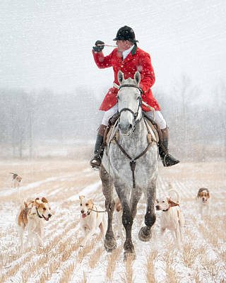 The Hounds Photograph - Calling The Hounds Back by Heather Swan