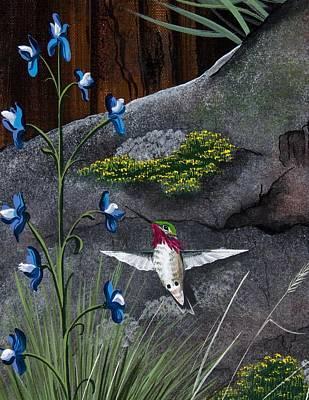 Painting - Calliope Hummingbird by Jennifer Lake