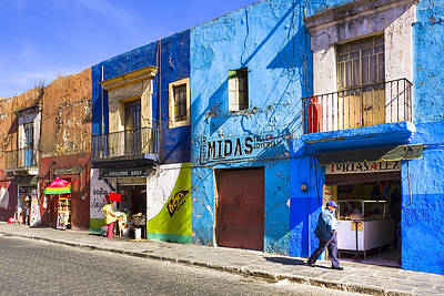 Photograph - Calm And Colorful Street In Puebla by Mark E Tisdale