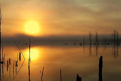 Calm At Dawn Art Print by Roger Becker