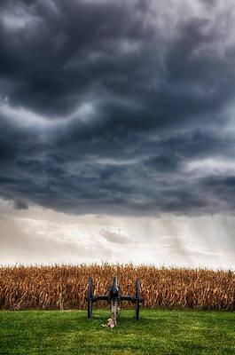 Calm Before The Storm 3 Print by Rhonda Negard