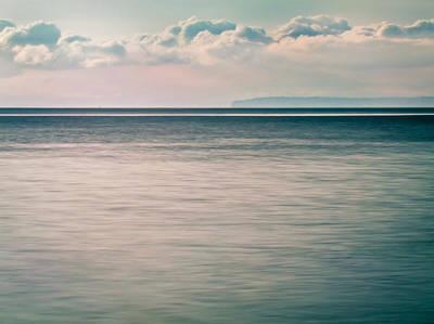 Eva Digital Art - Calm Blue Ocean by Eva Kondzialkiewicz