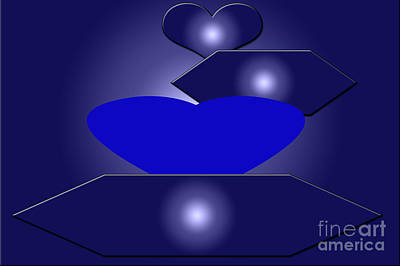 Calm Blue Six Art Print by Tina M Wenger