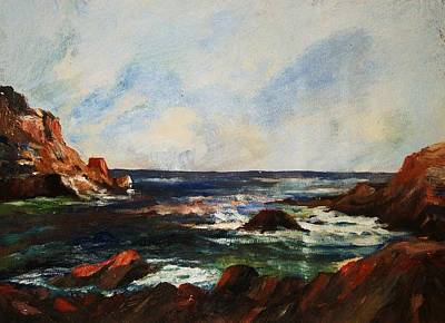 Art Print featuring the painting Calm Cove by Al Brown