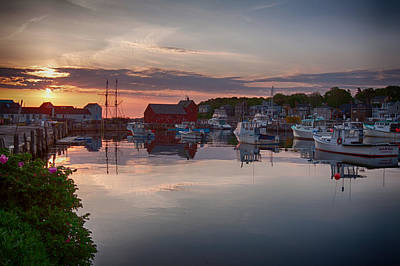 Photograph - Calm Harbor At Dawn by Jeff Folger