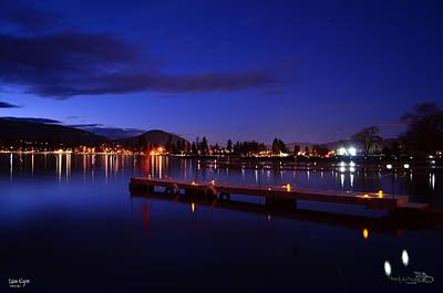 Penticton Photograph - Calm Night - Skaha Lake 02-21-2014 by Guy Hoffman