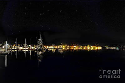 Photograph - Calm Night At The Marina by Dan Friend