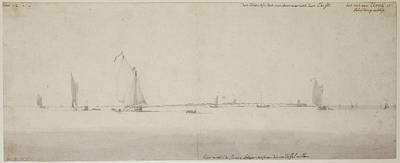 Wash Drawing - Calm Sea Willem Van De Velde The Younger by Litz Collection