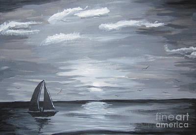 Calm Seas Art Print by Haleema Nuredeen