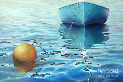 Painting - Calm Turquoise Sea by Miki Karni