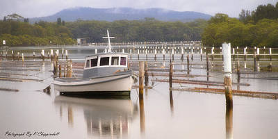 Photograph - Calm Waters Forster Nsw 01 by Kevin Chippindall