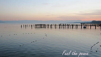 Calm Your Mind And Feel The Peace Art Print by Heidi Sieber