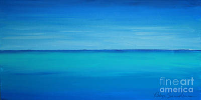 Painting - Calming Turquise Sea Part 1 Of 2 by Robyn Saunders