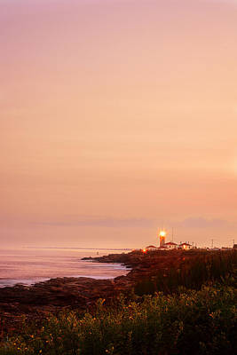 Supermoon Photograph - Calming Visual- Beavertail Lighthouse Art by Lourry Legarde
