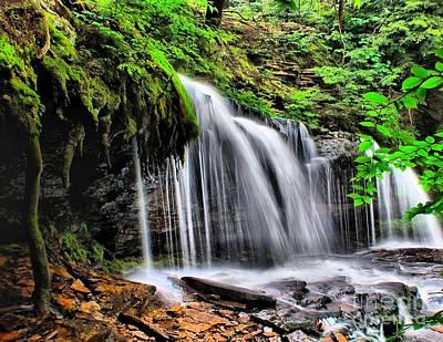 Photograph - Calming Waterfall by Nick Zelinsky