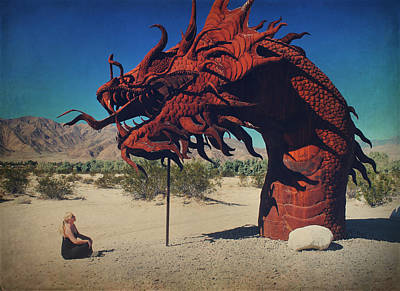 Installation Art Photograph - Calmly Facing Down My Demon by Laurie Search