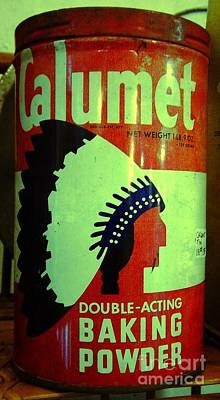 Photograph - Calumet Baking Powder Tin by Saundra Myles