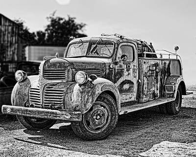 Calusa Rural Fire Truck No2 Art Print
