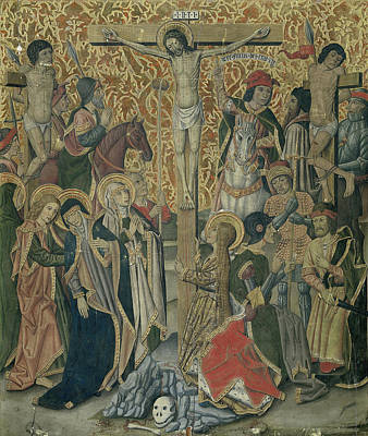 Pablo Drawing - Calvary, Attributed To Workshop Of Pablo Vergós by Litz Collection