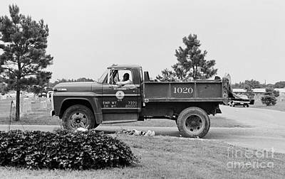 Photograph - Calvary Cemetery Truck Driver by Tom Brickhouse