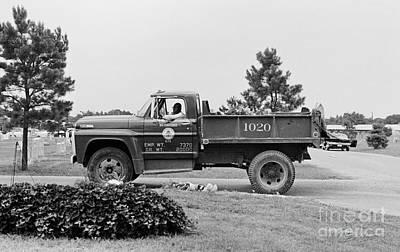 Photograph - Calvary Cemetery Truck Driver by Tom Brickhouse