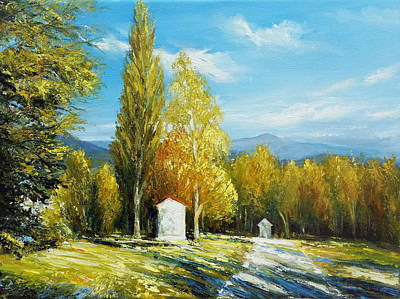When Life Gives You Lemons - Calvary in Autumn color by Roman Burgan