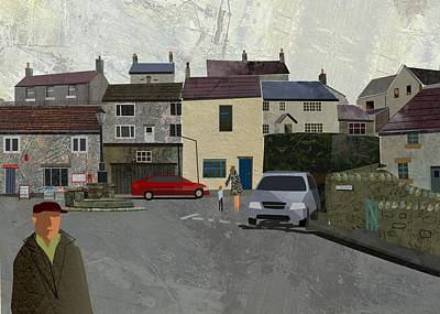 Digital Art - Calver Village by Kenneth North