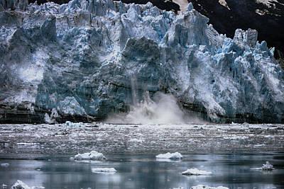 Photograph - Calving Glacier by John Haldane