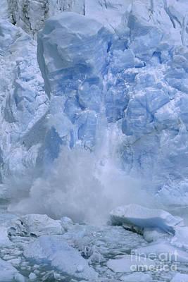 Photograph - calving Perito Moreno Glacier by Rudi Prott