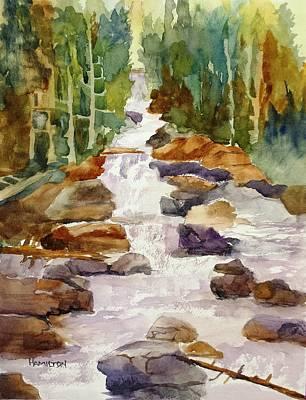 Painting - Calypso Cascade Falls by Larry Hamilton