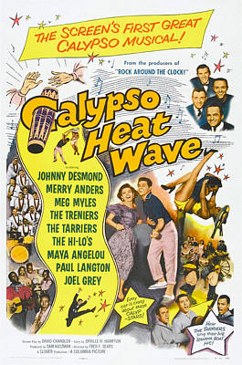 1957 Movies Photograph - Calypso Heat Wave, Us Poster Art, The by Everett