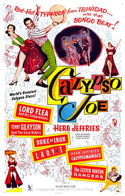 1957 Movies Photograph - Calypso Joe, Us Poster, Top From Left by Everett