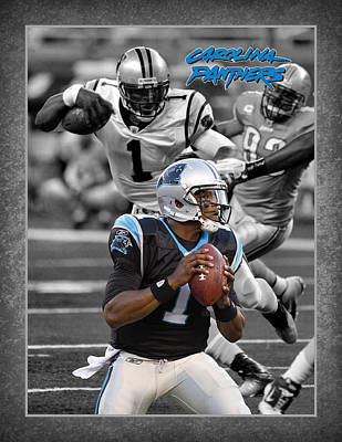 Cam Newton Panthers Print by Joe Hamilton