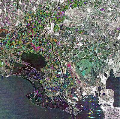 Camargue Delta Art Print by European Space Agency/jaxa