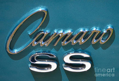 Photograph - Camaro Ss Badge by Mark Spearman