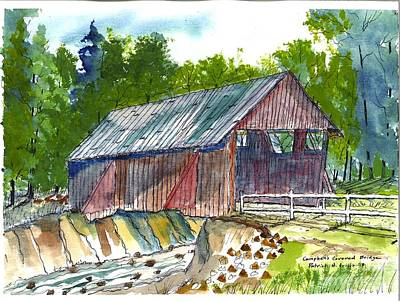 Painting - Cambell's Covered Bridge by Patrick Grills