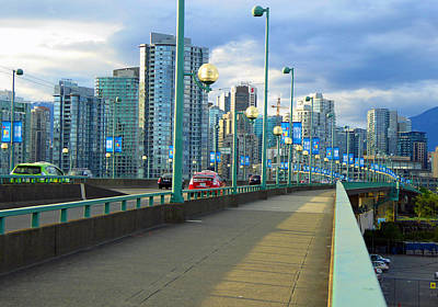 Photograph - Cambie Bridge by Laurie Tsemak