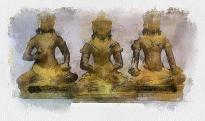 Painting - Cambodia Antique Temple by Teara Na