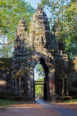 Angkor Thom Photograph - Cambodia North Gate, Angkor Thom by Charles O. Cecil
