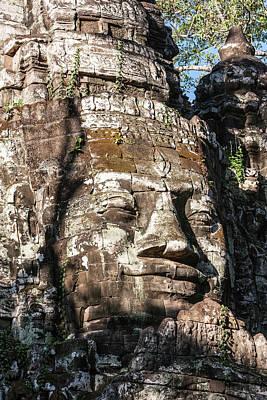Angkor Thom Photograph - Cambodia North Gate, Angkor Thom Some by Charles O. Cecil