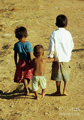Photograph - Cambodian Children 01 by Rick Piper Photography