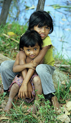 Photograph - Cambodian Children 02 by Rick Piper Photography