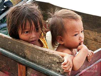 Photograph - Cambodian Children 03 by Rick Piper Photography